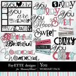 You FD WordArt Pack-$2.49 (Fayette Designs)