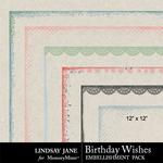 Birthday Wishes Edges Pack-$1.99 (Lindsay Jane)