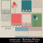 Birthday Wishes Journal Cards Pack-$1.99 (Lindsay Jane)