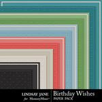 Birthday Wishes Embossed Paper Pack-$1.99 (Lindsay Jane)