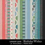 Birthday Wishes Paper Pack-$2.49 (Lindsay Jane)