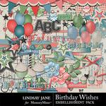 Birthday Wishes Embellishment Pack-$3.49 (Lindsay Jane)