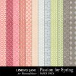 Passion for Spring Paper Pack-$2.49 (Lindsay Jane)