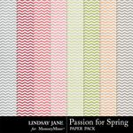 Passion for Spring Chevron Paper Pack-$1.99 (Lindsay Jane)