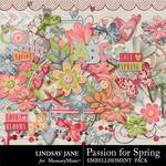 Passion for Spring Embellishment Pack-$3.49 (Lindsay Jane)