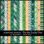 I'm the Lucky One Patterned Paper Pack-$1.75 (Jumpstart Designs)