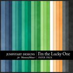 I'm the Lucky One Plain Paper Pack-$3.49 (Jumpstart Designs)