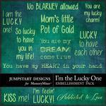 I'm the Lucky One WordArt-$1.50 (Jumpstart Designs)