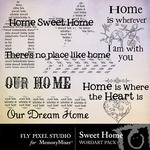Sweet Home WordArt Pack-$2.49 (Fly Pixel Studio)