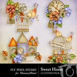Sweet Home Clusters Pack-$1.99 (Fly Pixel Studio)