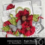 Brightmemories embellishments small