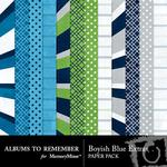 Boyish Blue Extras Paper Pack-$3.99 (Albums to Remember)