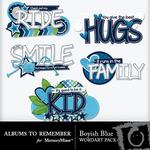 Boyish Blue WordArt Pack-$2.99 (Albums to Remember)