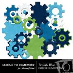 Boyish Blue Gears Embellishment Pack-$2.99 (Albums to Remember)