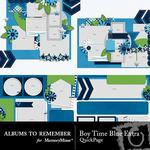 Boyish Blue QuickPage Embellishments-$3.49 (Albums to Remember)