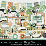 Happy Now Embellishment Pack-$2.99 (Karen Lewis)