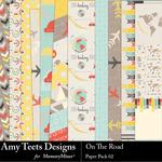 On the Road Paper Pack 2-$2.45 (Amy Teets)