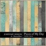 Pieces of My Day Blended Paper Pack-$2.99 (Jumpstart Designs)