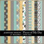 Pieces of My Day Patterned Paper Pack-$2.45 (Jumpstart Designs)