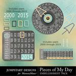 Pieces of My Day Date Bits-$2.49 (Jumpstart Designs)
