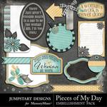 Pieces of My Day Journal Bits-$1.75 (Jumpstart Designs)