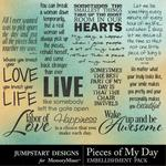 Pieces of My Day WordArt-$2.99 (Jumpstart Designs)