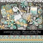 Pieces of My Day Everyday Embellishment Pack-$2.45 (Jumpstart Designs)