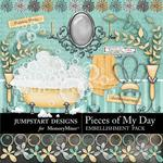 Pieces of My Day Relax Renew Embellishment Pack-$3.00 (Jumpstart Designs)