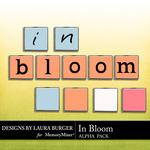 In Bloom Alpha Pack-$1.40 (Laura Burger)