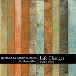 Life Changes Grunge Paper Pack-$2.45 (Laura Burger)