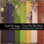 I Love You This Much Hotmess Solids Paper Pack-$3.99 (Fayette Designs)