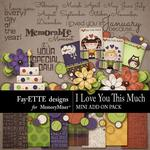 I Love You This Much Mini Add On Pack-$3.49 (Fayette Designs)