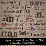I Love You This Much WordArt Pack-$1.75 (Fayette Designs)