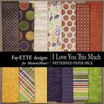 I Love You This Much Patterned Paper Pack-$2.99 (Fayette Designs)