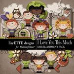I Love You This Much Embellishment Pack-$3.99 (Fayette Designs)