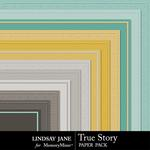 True Story Embossed Paper Pack-$1.99 (Lindsay Jane)
