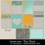 True Story Journal Cards-$1.00 (Lindsay Jane)