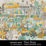 True Story Embellishment Pack-$1.75 (Lindsay Jane)