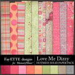 Love Me Dizzy Fayette Hotmess Solid Paper Pack-$3.99 (Fayette Designs)