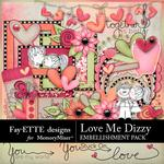 Love Me Dizzy Fayette Embellishments-$3.99 (Fayette Designs)