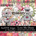 Love Me Dizzy Heart Beep Combo Pack-$5.99 (Fayette Designs)