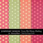 Love Me Dizzy Darling Add On Paper Pack-$2.99 (Jumpstart Designs)