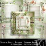 Someone Special Layered Green Paper Pack-$3.99 (MagicalReality Designs)