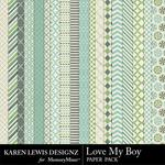 Love My Boy Paper Pack-$3.99 (Karen Lewis)