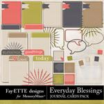 Everyday Blessings Journal Cards Pack-$1.99 (Fayette Designs)