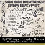 Everyday Blessings WordArt Pack-$2.49 (Fayette Designs)