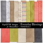Everyday Blessings Paper Pack 2-$3.99 (Fayette Designs)