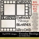 Everyday Blessings Big Words Pack-$2.49 (Fayette Designs)