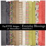 Everyday Blessings Paper Pack 1-$2.99 (Fayette Designs)