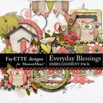 Everyday Blessings Embellishment Pack-$3.49 (Fayette Designs)